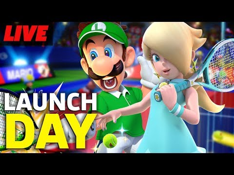Mario Tennis Aces Launch Day Livestream | Live Gameplay