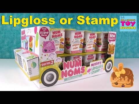 Num Noms Series 2 Lip Gloss Stamp Blind Bag Toy Opening | PSToyReviews