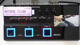 GT-1 Quick Start chapter6 : Setting for CTL1 Pedal