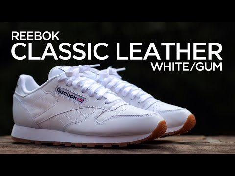 5d36ee8a27b5f Closer Look  Reebok Classic Leather - White Gum - YouTube