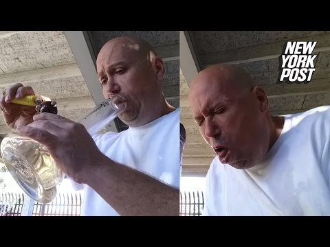 Man smokes the world's hottest pepper from a bong and temporarily goes blind