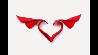 How to make origami wing Winged Heart  ( hoang tieng quyet )