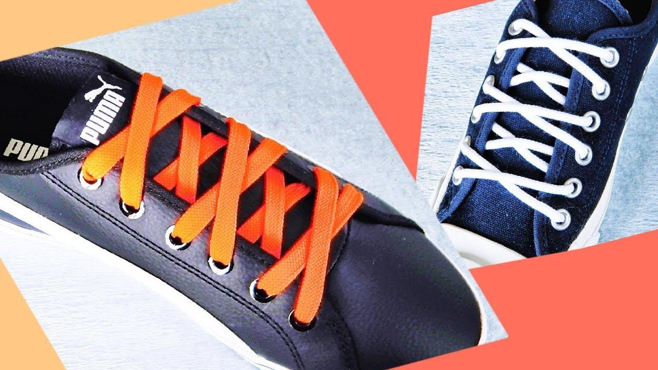 〔靴紐の結び方〕大小のクロス模様がかっこいい靴ひもの通し方 オーバーアンダー結び how to tie shoelaces 〔生活に役立つ!〕