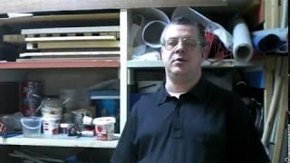 Мастерская  часть 8. My Studio. JonBoat. Строим лодку из пенопласта. Наклейка пайола.