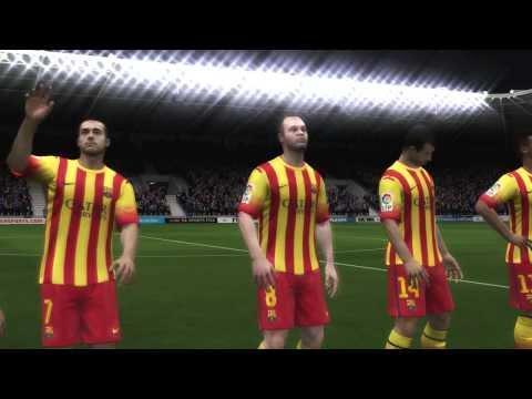 Fifa 14 Levante UD-FC Barcelona Mérközés