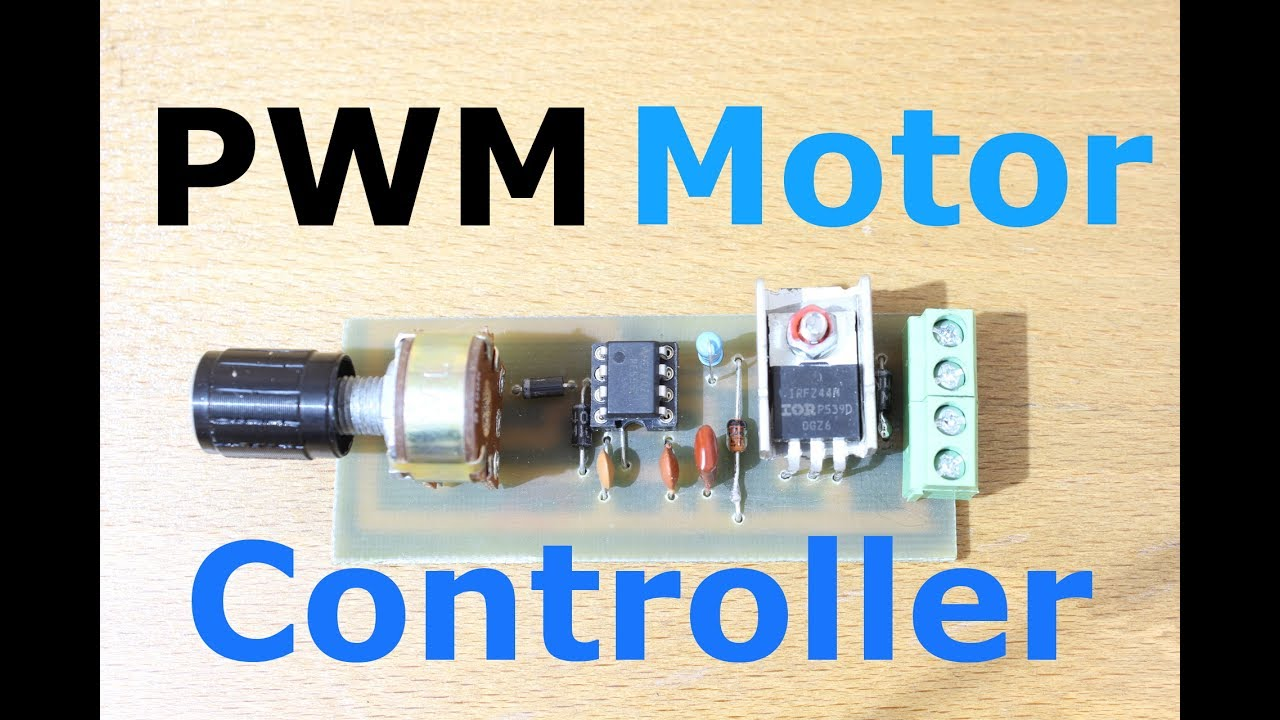 Homemade Pwm Motor Speed Controller Youtube 24v Wiring Diagram