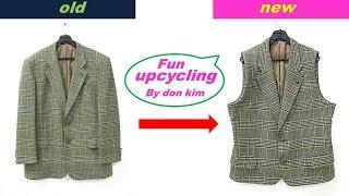 DIY 남성재킷조끼로리폼 man's jacket…