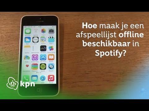Spotify: hoe maak je een afspeellijst in Spotify offline beschikbaar?