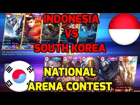 R.I.P Savage !!  Indonesia VS South Korea [1st Game 230318] | National Arena Contest Mobile Legends