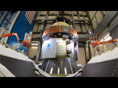 Watch Orion's Fairing Panel Jettison Test