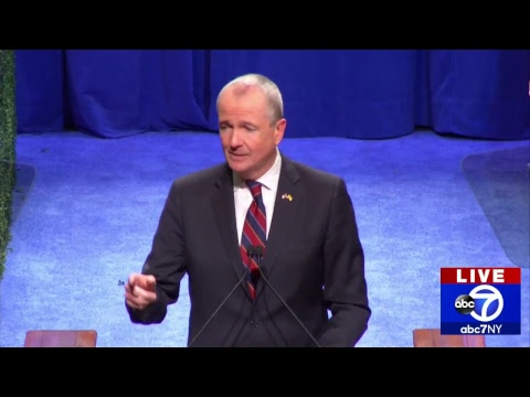 Phil Murphy takes the oath of office to become New Jersey's governor