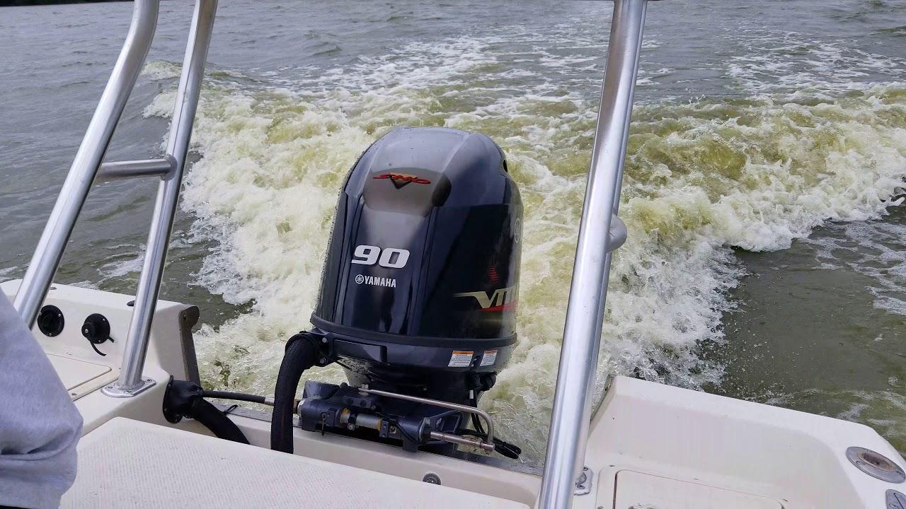 Yamaha outboard F90lb pumped up to Vf90la sho F90 hp