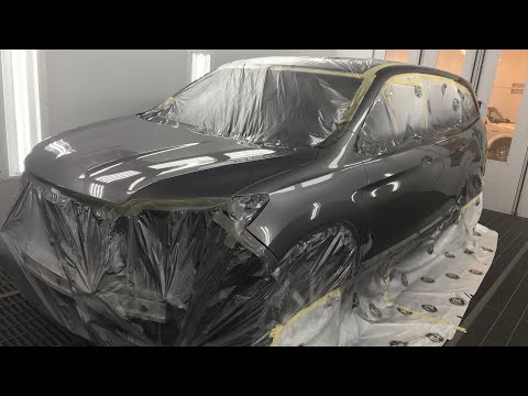 Spray Painting & Blending Honda Pilot with Sikkens Autowave.