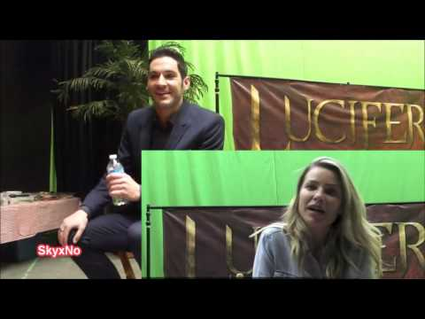 (Lucifer) Lauren German and Tom Ellis Fun Little Exchange