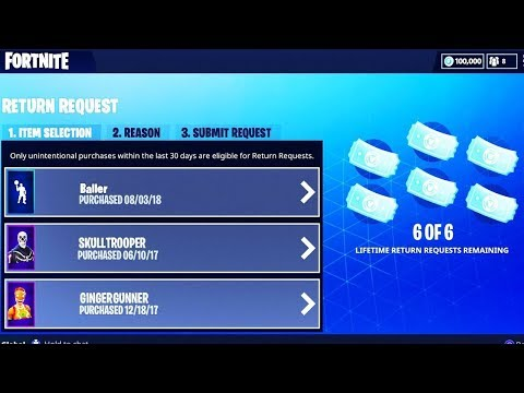 HOW TO REFUND *UNLIMITED* SKINS in Fortnite SEASON 5! - Fortnite NO LIMIT to YOUR REFUNDS!