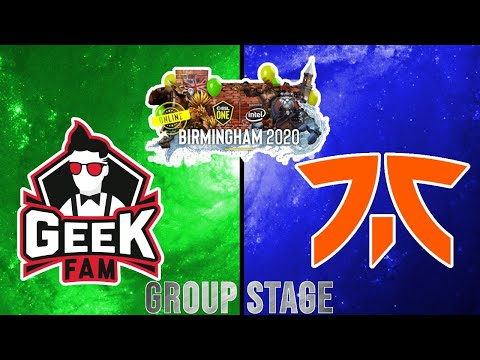 Geek Fam Vs Fnatic (Bo3)   ESL One Birmingham 2020 - Online: SEA