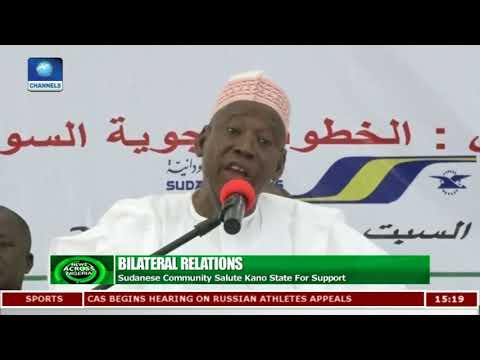 Sudanese Community Salute Kano State For Support