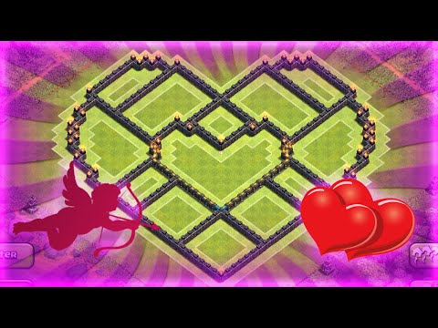 Clash Of Clans - BEST TOWNHALL 10 FARMING BASE (Valentines Day Heart Base) - 2015