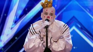 Party Sad Clown Stuns Crowd with Sias Chandelier - Americas Got Talent 2017