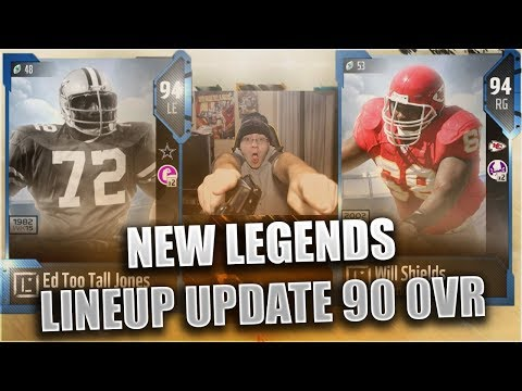 ED TOO TALL JONES AND WILL SHIELDS! NEW 90 OVERALL LINEUP UPDATE! MADDEN NFL 18