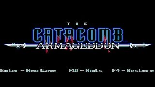 Catacomb Armageddon gameplay (PC Game, 1992)