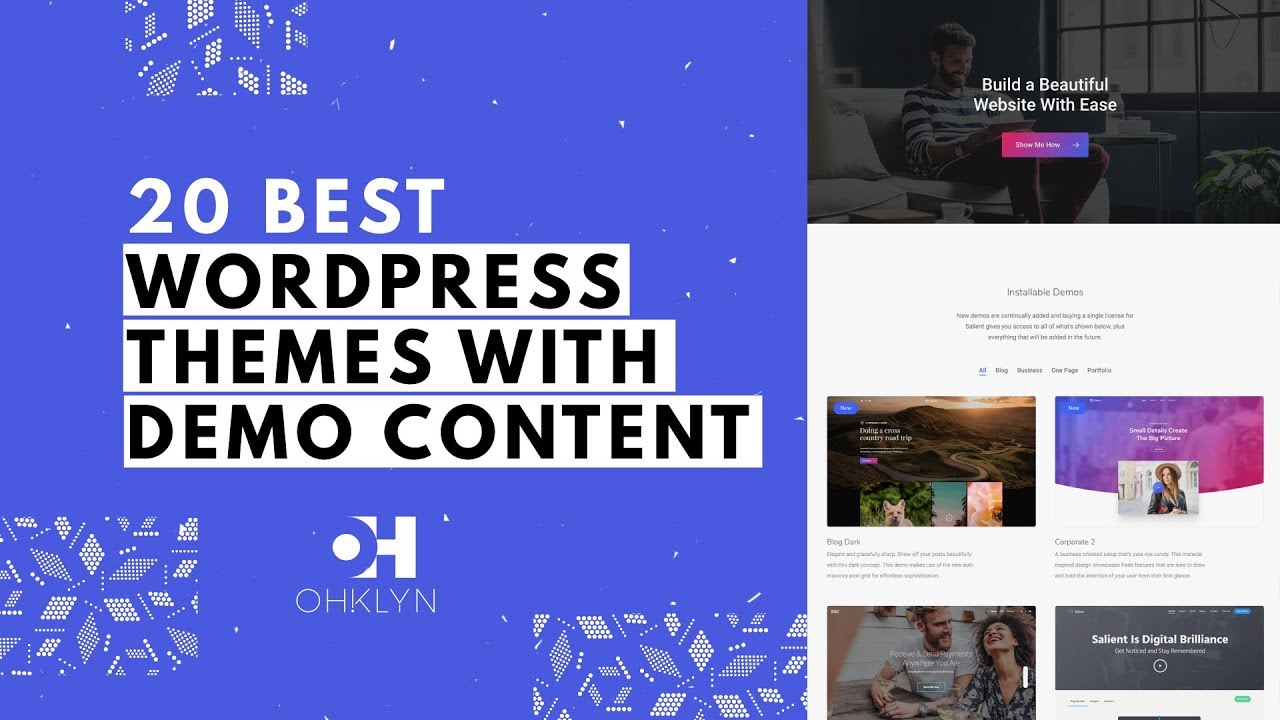 20 wordpress themes with demo content best wordpress themes 2018