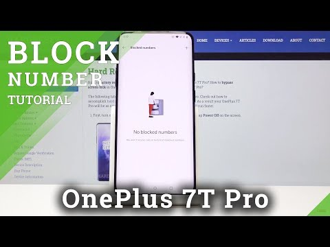 How to Block Number in OnePlus 7T Pro - Create Blacklist