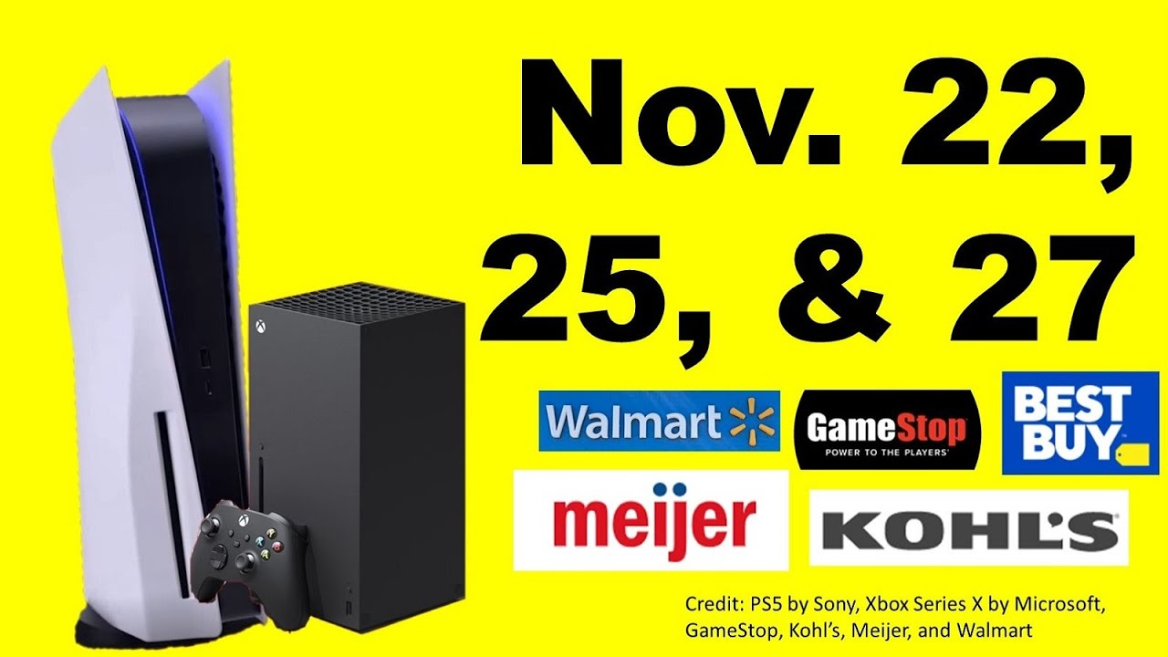 Ps5 Xsx Going Live On 11 22 Sony Playstation 5 Thanksgiving Sales At Best Buy Walmart Gamestop Youtube