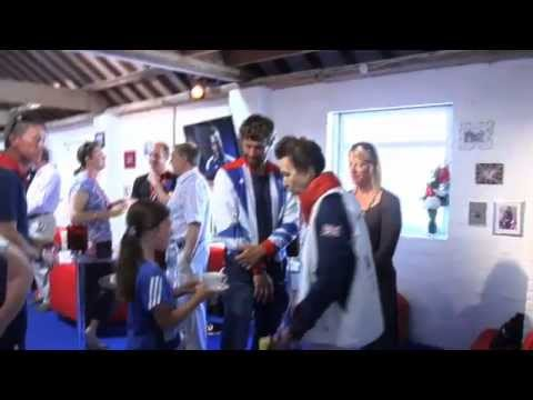 HRH visits Weymouth Sailing Club to meet the friends and family of the British Sailing Team 2012