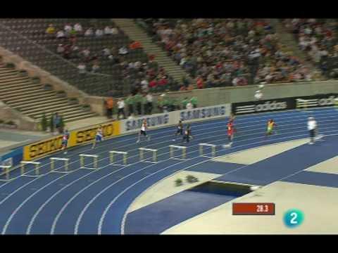 Final 400 m vallas masculino Mundial Berlin 2.009