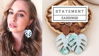 How to make statement earring with RESIN & POLYMER CLAY