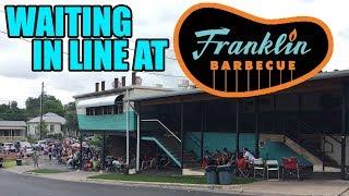 Franklin BBQ line - Austin Texas 2017  (1st in line!)