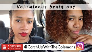 Cornrow Braid Out | How to Take Out Cornrows Quick and Easy | Catch Up With The Colemans
