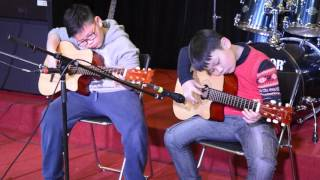 Hòa Tấu Guitar Jingel Bells - Chí Hiếu, Tuệ Khuê