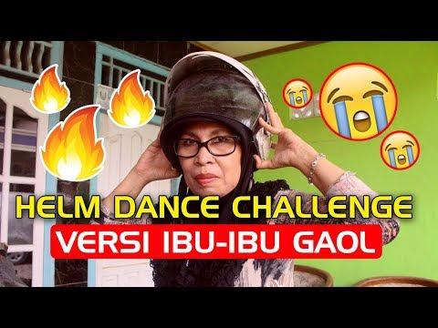 GREGET !! Viral HELM DANCE CHALLENGE VERSI IBU-IBU GAUL