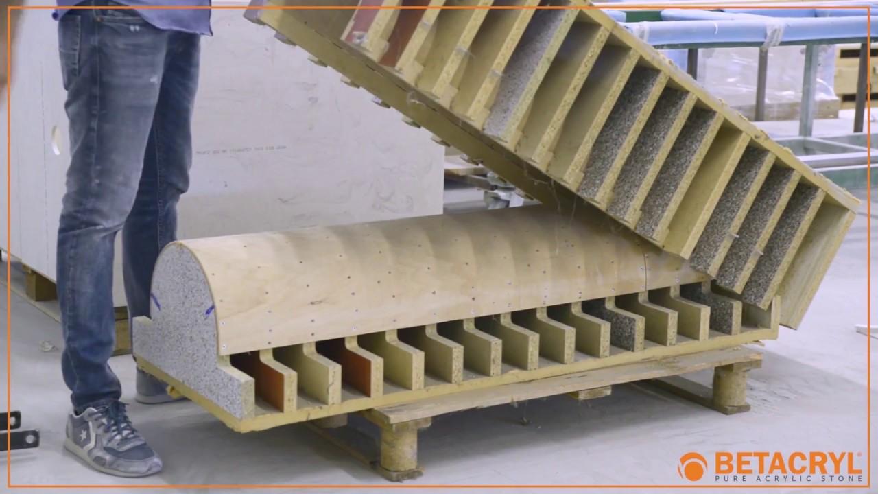 Betacryl Pure Acrylic Stone 12 termoformado y moldeado con prensa hidráulica