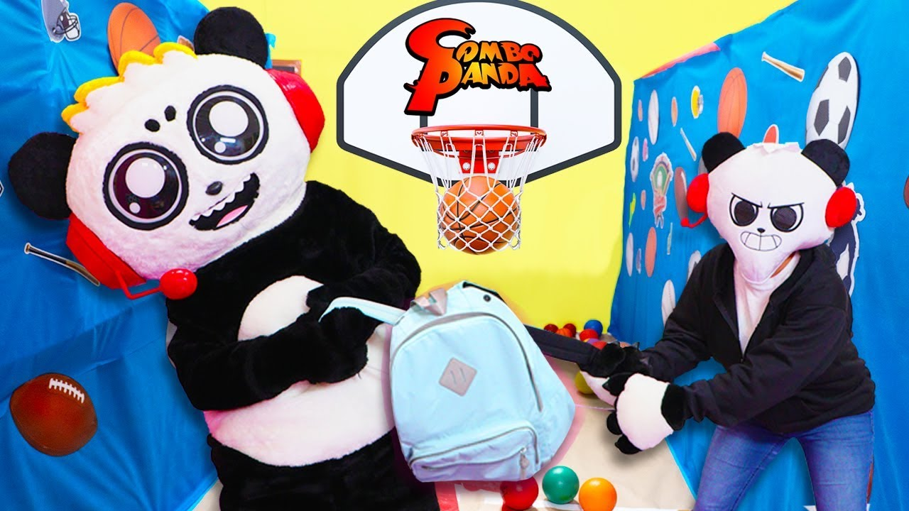 Roblox Escape School Obby Lets Play With Combo Panda Escape Back To School Obby In Real Life Imposter Combo Panda