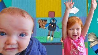 Adley App Reviews | Toca Boca Robot Adventure Lab | playing with MYSTERY GUEST Baby Brother 🤖