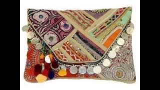 Check Tylie Malibu Prana Multi Vintage Fabric Tapestry Tribal Inspired Beige Slide