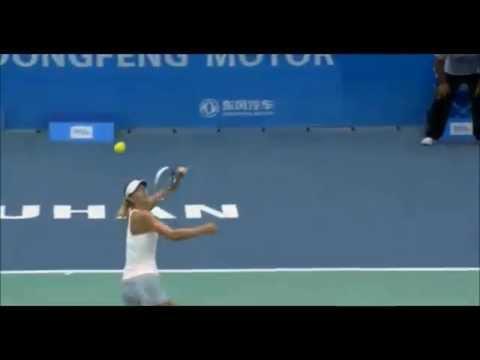 Maria Sharapova vs Timea Bacsinszky 2014 Amazing Point - WTA Wuhan Open