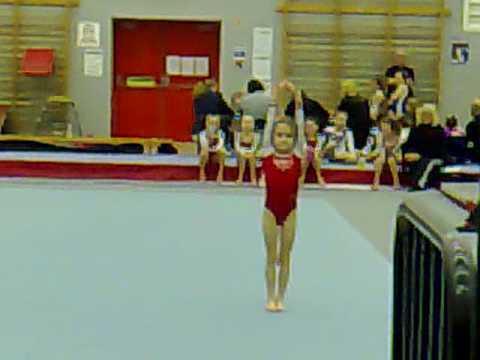 Lauren Haddock floor gymnastics grade 14 floor rou...