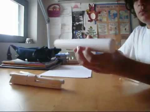 how to make a paper rifle that shoots without blowing