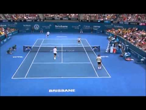 Roger Federer/Mahut vs Chardy/Dimitrov Men's Doubles ATP Brisbane International 2014-highlights-QF