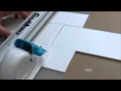Foam Board House Plan Display Mounting Using Printed Foam
