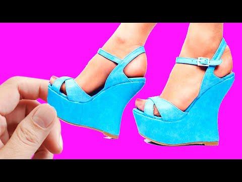 DIY Barbie Miniature Shoes and Boots | DIY Ideas For Barbie Doll ~ ZAPATOS para MUÑECAS Barbie