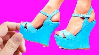 DIY Barbie Miniature Shoes and Boots  DIY Ideas For Barbie Doll ~ ZAPATOS para MUÑECAS Barbie