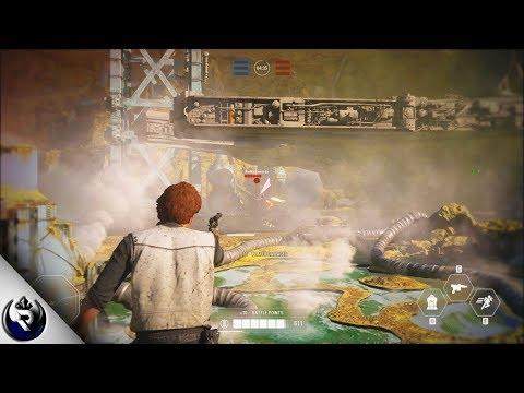 Star Wars Battlefront 2 - Hero Gameplay on Kessel (The Han Solo Season) thumbnail