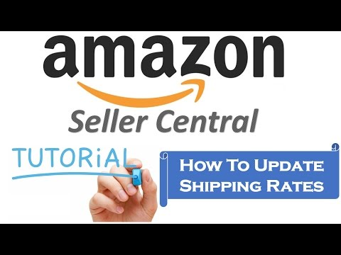 How to update shipping rates in amazon seller central in Hindi