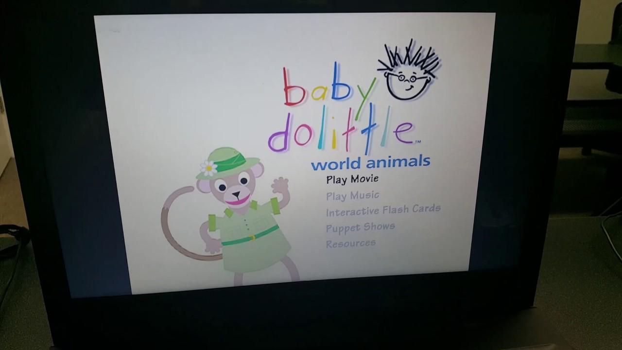 Baby Dolittle: World Animals DVD Menu - YouTube