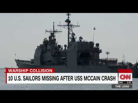 US sailors missing after US Navy collision
